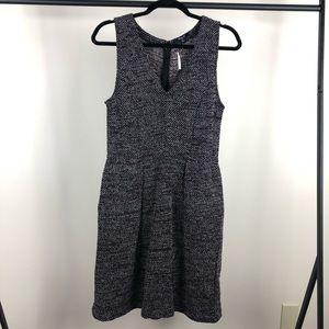 NWT Madewell tweed style dress LRG v neck pockets